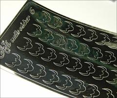 Металлизированные наклейки Arti nails Stiker цвет серебро №6