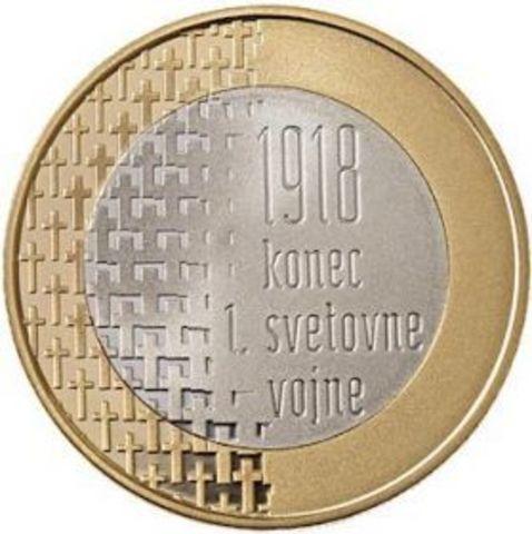 3 евро. 100 лет окончания Первой мировой войны. Словения. 2018 год
