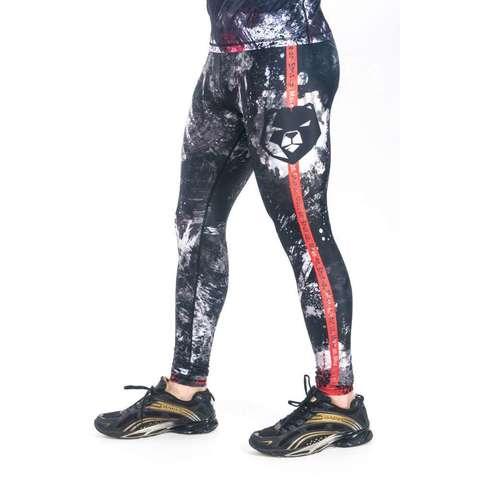 купить мужские тайтсы леггинсы orso для бега фитнеса единоборств занятий спортом