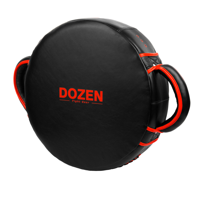 Макивара круглая Dozen Monochrome черно-красная обратный вид