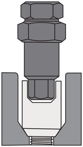 Ключ переходной 6-гранный баллонный специальный 19/21 мм чёрный