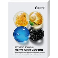 Esthetic House Набор маска для лица тканевая 4 вида - Solution perfect skinfit, 25 мл*4 шт