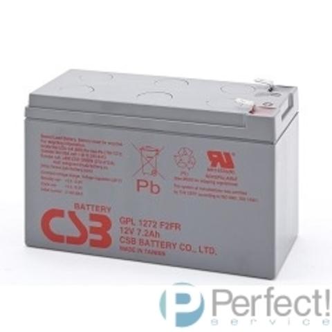 CSB Батарея GPL1272 (12V 7,2Ah  F2) (с увеличенным сроком службы 10лет))