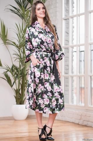 Длинный халат Mia-Mella 8139 ROSY