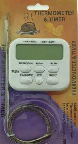 Цифровой термометр с выносным датчиком ТА-278