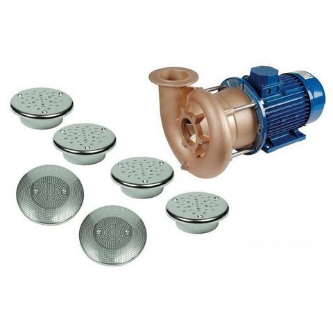 Гидромассаж Fitstar Combi-Whirl 8610020 (220/380 В, 5,5 Квт) компл: насос, 4 форсунки, 2 водозабора / 22839