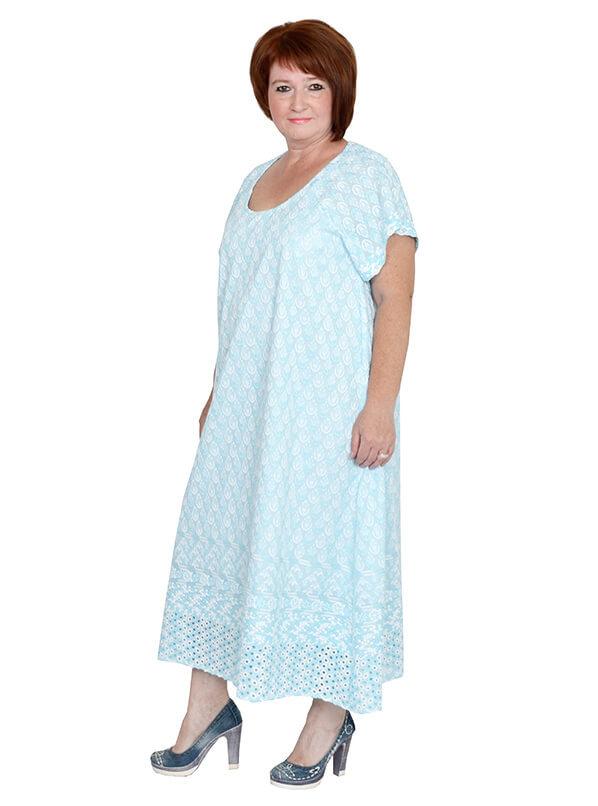 Платье из хлопка Павлина