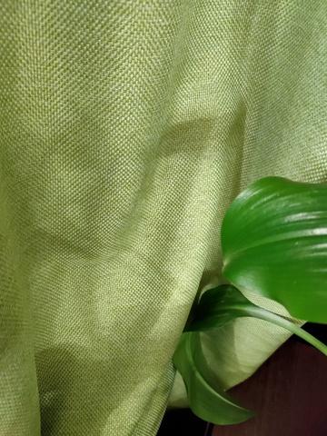 Блэкаут рогожка для штор зеленая. Ш-280 см. Арт. BLR-19 - 1,7 метра.