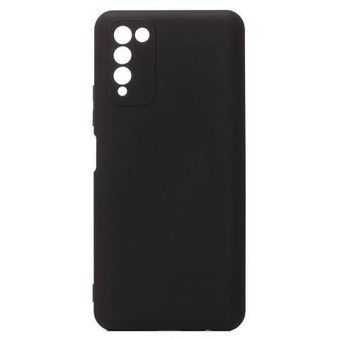 Чехол для Huawei Honor 10X Lite Софт тач мягкий эффект   микрофибра черный