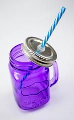 Баночка для смузи и коктейлей, фиолетовая, фото 2