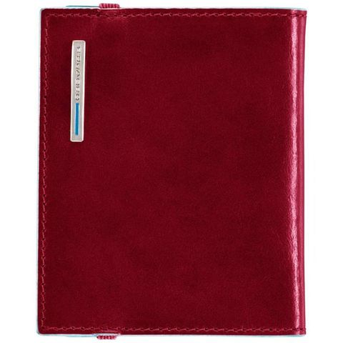 Чехол для кредитных карт Piquadro Blue Square (PP1395B2/R) красный кожа