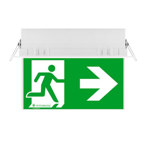 Световой указатель ONTEC G с рамкой для встраиваемого монтажа – вид спереди