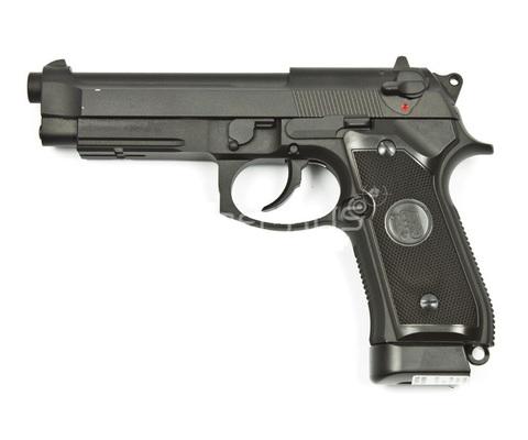 Страйкбольный пистолет M9A1, грин-газ, черный (KJW)