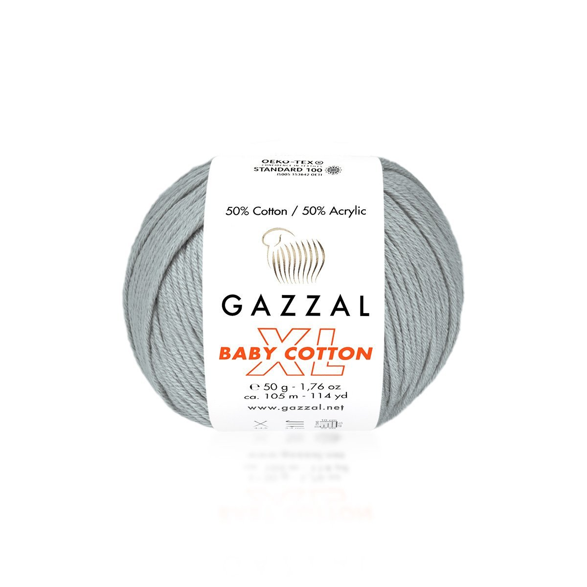 Пряжа Gazzal Baby Cotton XL 3430 серый