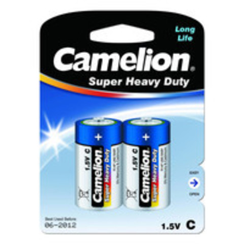 Батарейки Camelion Blue R14, C (2/12) BL