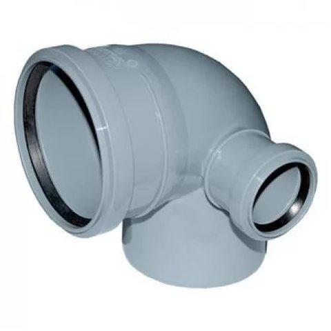 Отвод канализационный 110*90 с правым выходом D50