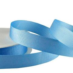 Лента Репсовая Голубой, 2,5 см *22,85 м