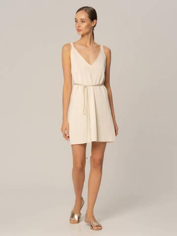 Женское платье белого цвета из шелка и вискозы - фото 2