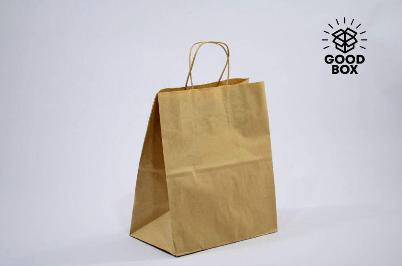 Крафт пакет бурого цвета 240*110*300