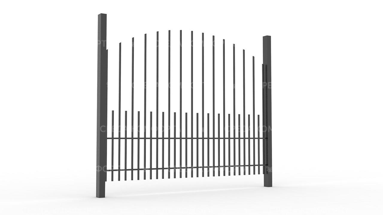 Забор из профильной трубы ZBR0139