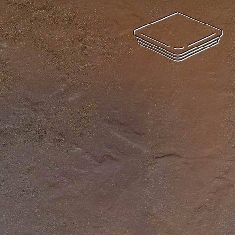 Ceramika Paradyz - Semir Beige, 330x330x11, артикул 5214 - Ступень угловая с капиносом структурная