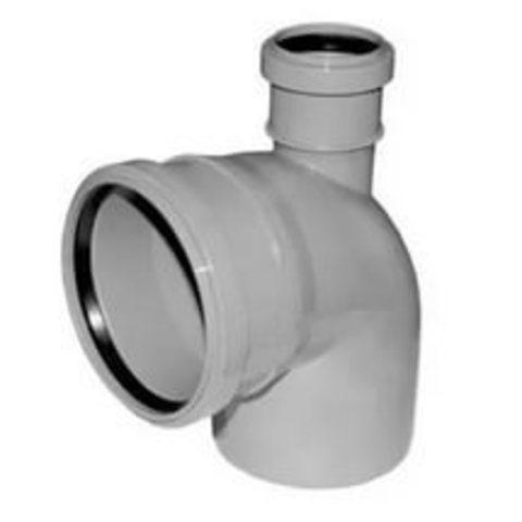 Отвод канализационный 110*90 с прямым выходом D50