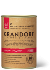 Grandorf консервы для взрослых собак, Говядина с Индейкой.