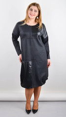 Джаз. Стильне плаття великого розміру. Графіт.
