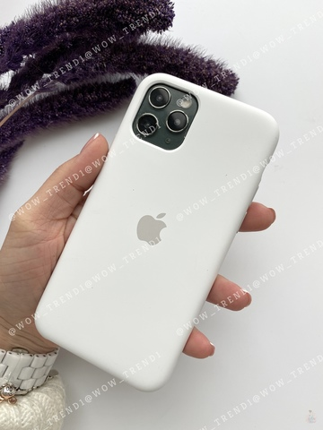 Чехол iPhone 11 Pro Max Silicone Case /white/ белый original quality