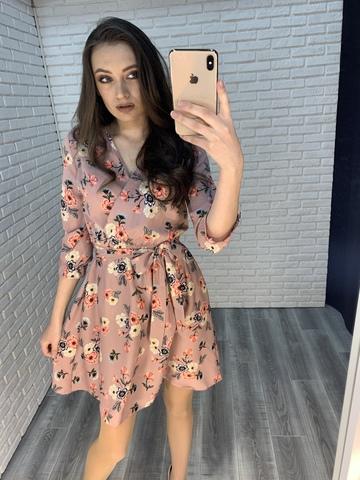 розовое летнее платье nadya