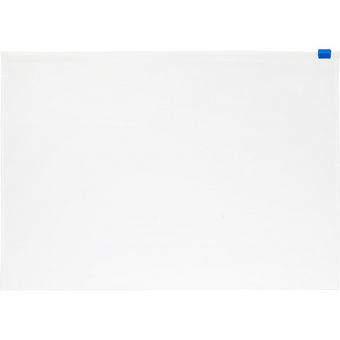 Папка-конверт Attache Economy на молнии А4 прозрачная 0.12 мм