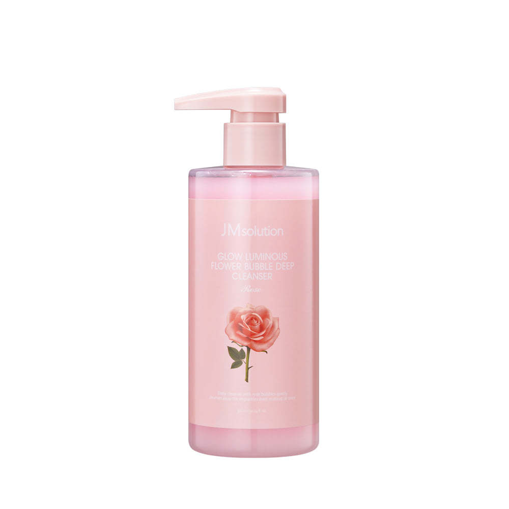 Кислородная пенка для умывания с экстрактом розы GLOW LUMINOUS FLOWER BUBBLE DEEP CLEANSER, 300 мл