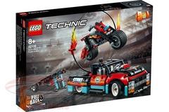 Lego konstruktor Technic Stunt Show Truck & Bike