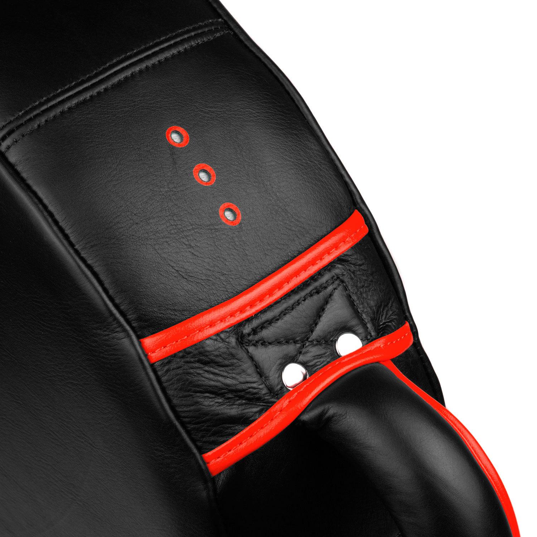 Макивара круглая Dozen Monochrome черно-красная крепление ручки и воздухоотвод