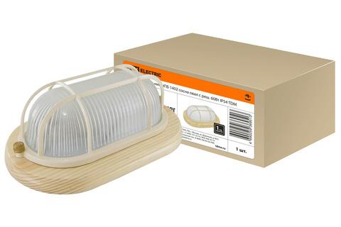 Светильник НПБ1402 сосна овал с реш. 60Вт IP54 TDM