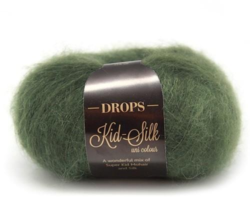 Пряжа Drops Kid-Silk 19 темно-зеленый