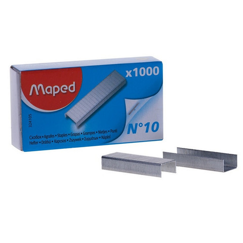 Скобы для степлера №10 Maped оцинкованные 1000 шт в уп
