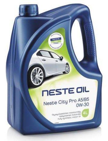 Масло моторное синтетическое Neste City Pro A5/B5 0W-30 4 л