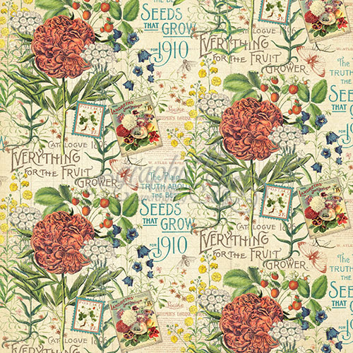 Бумага для скрапбукинга July Flourish Graphic45