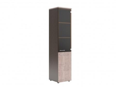 XHC 42.2(L/R) Шкаф колонка комбинированая со стеклом и топом (425х410х1930)