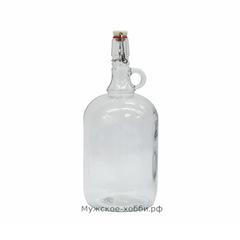 Бутылка с бугельной пробкой 2 л, прозрачная