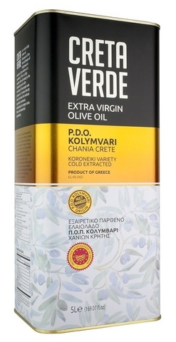 Оливковое масло CRETA VERDE с острова Крит PDO 3 л металл