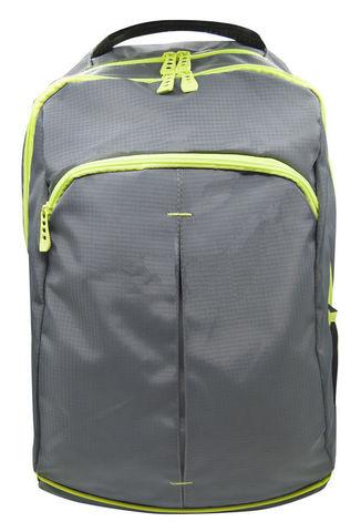 Рюкзак Silwerhof Power, серый/неоново-зеленый, 31х17х48 см, 18 л