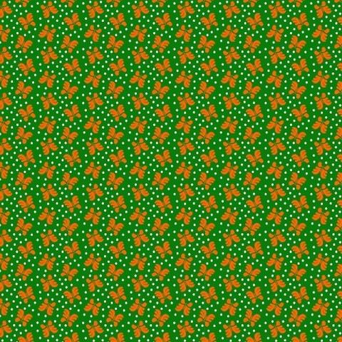 Бязь плательная 150 см 1550/7 цвет зеленый/оранжевый