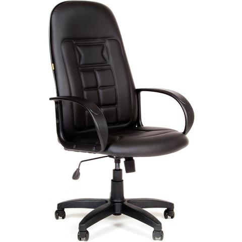 Кресло для руководителя Chairman 727 черное (искусственная кожа/пластик)