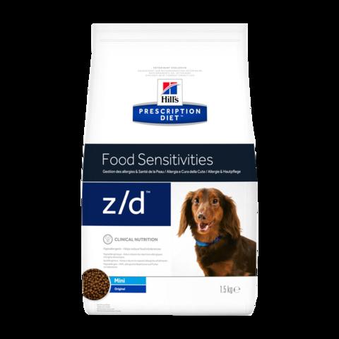 Hill's Prescription Diet Z/D Сухой диетический корм для собак миниатюрных пород при пищевых аллергиях