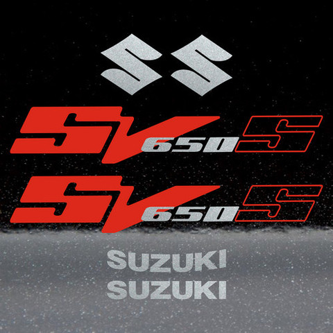 Набор виниловых наклеек на мотоцикл SUZUKI SV 650S 2004