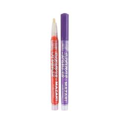 Mazari Sparkle набор маркеров для скетчинга и декора с блестками пуля 1-2 мм - 12 цветов (акриловые)