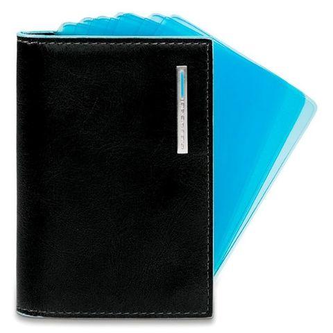 Чехол для кредитных карт Piquadro Blue Square (PP1661B2/N) черный кожа