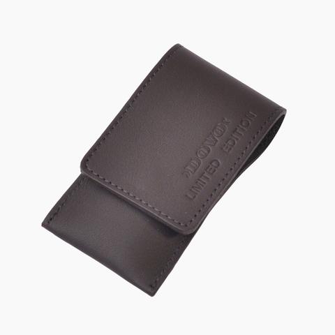 Маникюрный набор Dovo LE, 3 предмета, кожаный футляр (вол), цвет черный